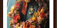 make a fall wreath for under 5 00, crafts, seasonal holiday decor, wreaths, Finished thrift store Fall wreath