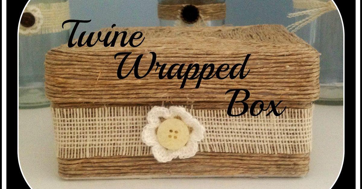 Twine Wrapped Decorative Box Hometalk