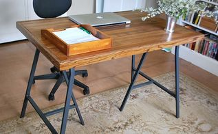 how to make an salvaged industrial style desk, diy, how to, painted furniture, repurposing upcycling, rustic furniture, woodworking projects, Front view of desk ha it s the same as the back view