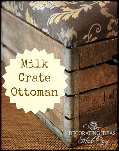 How to make an ottoman hometalk for Milk crate crafts