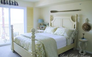 weekend retreat master bedroom, bedroom ideas, doors, home decor, window treatments, The shutters on the east facing sliding door are actually bi fold doors Privacy isn t an issue so we decided a window treatment isn t necessary There are no shades or curtains in this room or the great room
