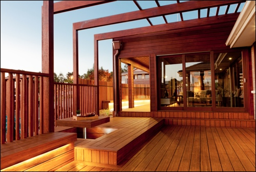Outdoor construction by life outside pty ltd for sekisui for Open pergola designs