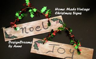 mini vintage christmas signs, christmas decorations, crafts, seasonal holiday decor