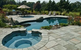 upgrading backyard can create completely different property, decks, landscape, outdoor living, patio, pool designs, spas, Spa Upgrades