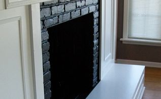 new look for an old fireplace, concrete masonry, diy, fireplaces mantels, painting, woodworking projects
