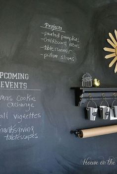 how to make a chalkboard wall in your home office craft room, chalkboard paint, craft rooms, crafts, home office, paint colors, painting, wall decor, A chalkboard wall is a great addition to a craft room