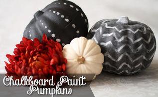 diy dollar store chalkboard paint pumpkins, chalkboard paint, crafts, halloween decorations, painting, seasonal holiday decor