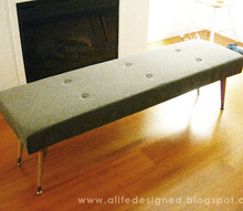 diy mid century bench, dining room ideas, painted furniture