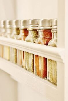 built in spice rack, storage ideas
