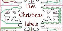 6 free printable christmas labels, crafts