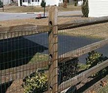 q raised bed over chicken wire, fences, outdoor living, Ugly fence