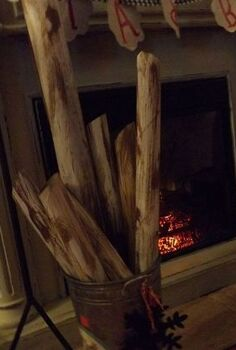 i just couldn t toss the cardboard tubes from wrapping paper, christmas decorations, fireplaces mantels, repurposing upcycling, seasonal holiday d cor