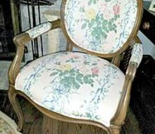 louis xv chair reupholstered, painted furniture, This is the initial state of the chair