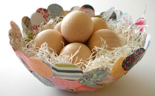 paper mache confetti bowl, crafts, decoupage, Use your bowl as a seasonal decor piece