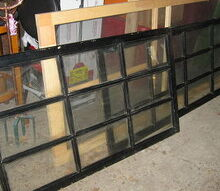 looking for ideas, windows, I was thinking of making a screen I would re paint them black gold accenting Aged black windows with gold showing thru the man made worn parts