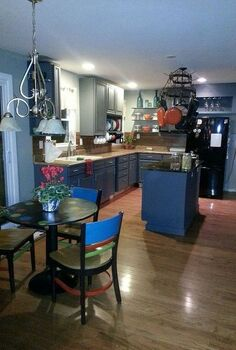a fab kitchen rehab, diy, home decor, home improvement, kitchen backsplash, kitchen design, kitchen island, 95 complete Still have finishing touches but the transformation was amazing I do not like clutter and so many things are hanging or put away and out of the way