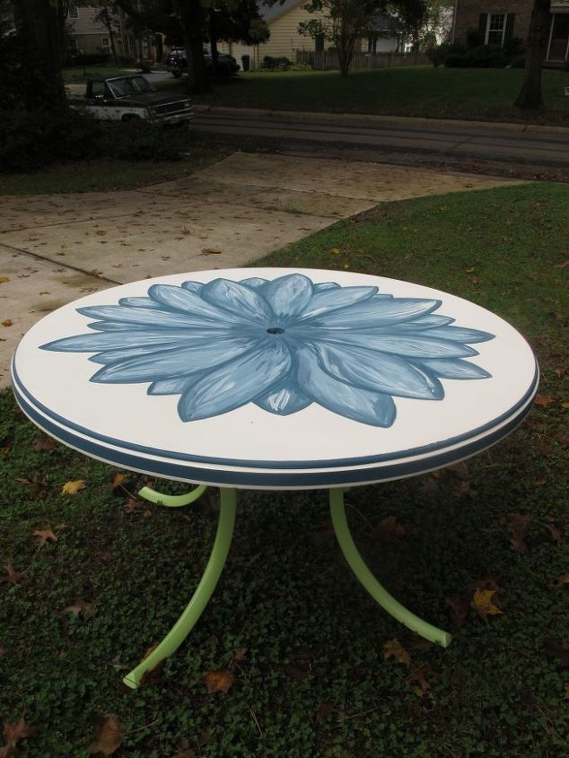 Hand Painted Patio Table Hometalk