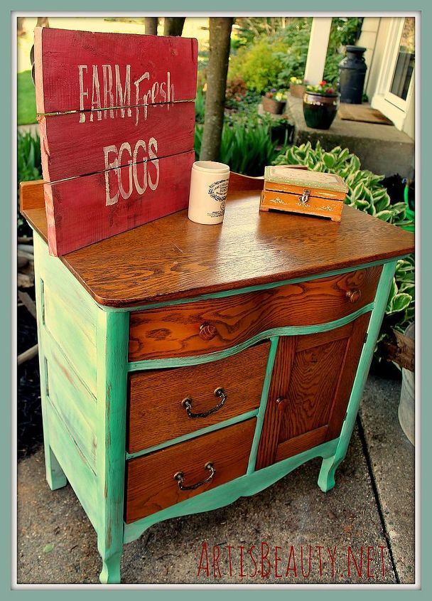 Head On Over To See The Quick Antique Commode Makeover