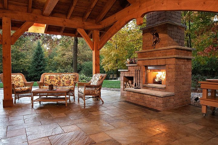 Outdoor Fireplace Idea Decks Fireplaces Mantels Living Room Example