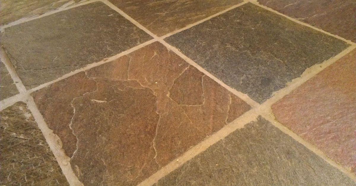 Best way to clean slate floor tiles