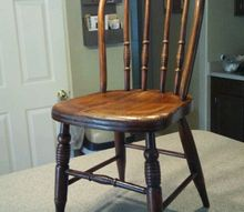 cute little chairs, painted furniture, Stained also with Minwax gel stain in Mahogany