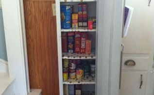 old metal cabinet turned into pantry, painted furniture, Metal Pantry