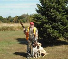 hunting pheasants with my scott and pups, outdoor living, Here I am with my pups pheasant hunting at a lodge hope u enjoy all these mayb later I will post my turkey hunting pics hee hee