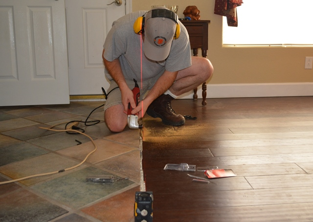 The Great Divide Installing Living Room Transition Molding Diy Flooring