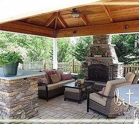 Beautiful Outdoor Patio Cabana Fireplace, Fireplaces Mantels, Landscape, Outdoor  Living, Patio