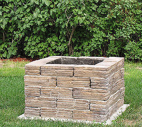backyard fire pit concrete masonry diy outdoor living