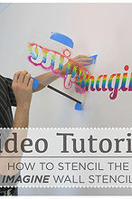 video tutorial how to stencil the imagine wall stencil, diy, home decor, how to, painting, wall decor