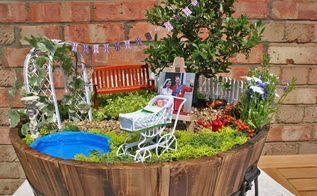diy miniature garden in honour of the birth of the royal baby, flowers, gardening, outdoor living, We created a miniature garden to celebrate the birth of the Royal Baby