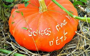 how to personalize your garden s pumpkins, crafts, gardening