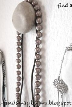 diy pebble hangers for jewelry, organizing