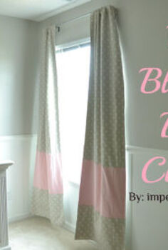 diy blackout curtains with colorblock stripe, crafts, diy, reupholster, window treatments