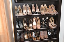 diy shoe rack shoe display shoe organizer repurposed bookcase, cleaning tips, repurposing upcycling