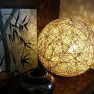 diy hemp string lamp, crafts, electrical, repurposing upcycling