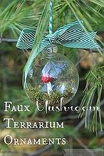 faux mushroom terrarium ornaments, crafts, terrarium