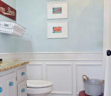 guest bathroom reveal vintage inspired, bathroom ideas, home decor, red and turquoise guest bathroom