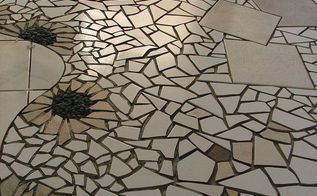 this is another section of a mosaic floor i created, flooring, tile flooring, tiling, This is part of a gallery floor I designed several years back I wanted to come up with a design that would lead the customers from one area to the next