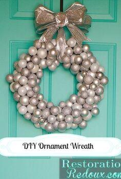 diy ornament wreath, christmas decorations, crafts, seasonal holiday decor, wreaths, DIY Ornament Wreath