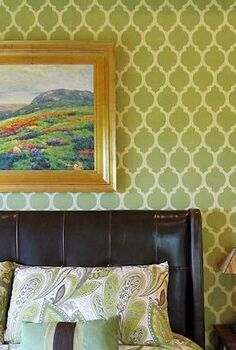how to stencil a feature wall video tutorial, paint colors, painting, wall decor, Casablanca Feature Wall
