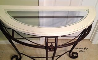 entry table refinish project, foyer, painted furniture