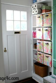 entry cabinets from horrible to adorable, foyer, shelving ideas, storage ideas, Finished cabinets