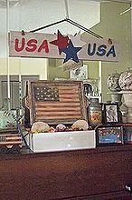 scrap wood usa sign, crafts, patriotic decor ideas, seasonal holiday decor, Inside on my piano mantel