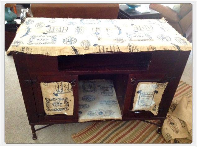 Burlap Furniture  Hometalk