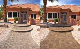 pavers, cleaning tips, concrete masonry, curb appeal, Sealed paver walkway
