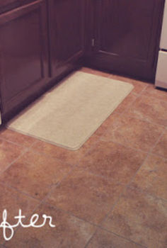 groutable vinyl tile easy tile makeover, diy, flooring, kitchen design, tile flooring, tiling, We went with a grey grout and a neutral tile I might actually retile the whole thing with a lighter tile now that I know what I am doing and because it is SO easy
