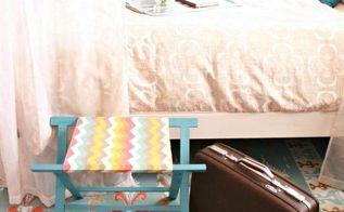getting guest ready with a diy luggage rack, bedroom ideas, storage ideas, DIY foldable luggage rack