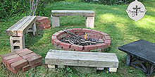 backyard fun reclaimed style 2 fire pit, outdoor living, You can build your own backyard fire pit in no time